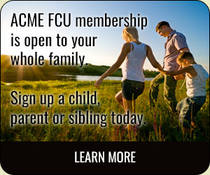 ACME Membership is open to your whole family. Sign up a child, parent, or sibling today
